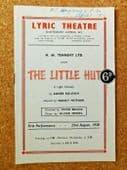 The Little Hut Lyric Theatre programme 1951 Joyce Redman vintage 1950s play